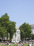 Tourists Picnicking Near Marble Arch, London, England, United Kingdom, Europe Photographic Print by Michael Kelly