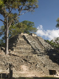 Mound No.16, West Court, Copan Archaeological Park, UNESCO World Heritage Site, Honduras Photographic Print