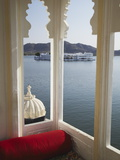 View of Lake Palace Hotel From Jagat Niiwas Palace Hotel, Udaipur, Rajasthan, India, Asia Photographic Print by Ian Trower