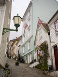 Strangebakken Street, Stransidden District, Bergen, Hordaland, Norway, Scandinavia, Europe Photographic Print by Marco Cristofori