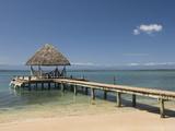 Boat Jetty, Isla Bastimentos, Bocas Del Toro, Panama, Central America Photographic Print