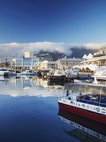Victoria and Alfred Waterfront at Dawn, Cape Town, Western Cape, South Africa, Africa Photographic Print