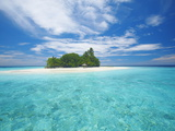 Tropical Island Surrounded By Lagoon, Maldives, Indian Ocean, Asia Photographic Print by Sakis Papadopoulos