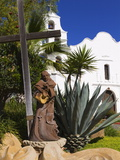 Father Junipero Serra Statue, Mission Basilica San Diego De Alcala, San Diego, California Photographic Print