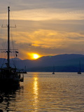 Sunset, Nafplio, Peloponnese, Greece, Europe Photographic Print