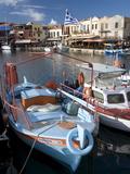 Small Fishing Boats, Old Venetian Harbor, Rethymno, Crete, Greek Islands, Greece, Europe Photographic Print