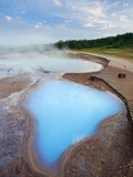 Geothermal Pools Close to Strokkur Geyser, Haukadalur, Iceland, Polar Regions Photographic Print by Guy Edwardes