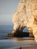 Cliffs at Etretat, Cote D'Albatre, Seine-Maritime, Normandy, France, Europe Photographic Print
