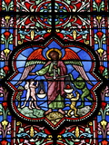 Stained Glass in Notre Dame De Bayeux Cathedral, Bayeux, Normandy, France, Europe Photographic Print