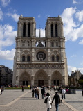 Western Facade, Notre Dame, UNESCO World Heritage Site, Paris, France, Europe Photographic Print by Carlo Morucchio