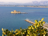 View to One of the Castles Guarding Nafplio, Peloponnese, Greece, Europe Photographic Print