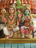 Close-Up of Shiva and Parvati Statues in Hindu Temple, France, Europe Photographic Print