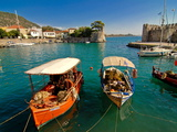 The Harbour of Nafpaktos, Central Greece, Greece, Europe Photographic Print