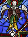 An Angel in Stained Glass, International Stained Glass Centre, Chartres, Eure-Et-Loir, France Photographic Print