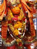 Hanuman Statue, Haridwar, Uttarakhand, India, Asia Photographic Print