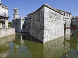 Moat and Castillo De La Real Fuerza in Old Havana, UNESCO World Heritage Site, Havana, Cuba Photographic Print by Martin Child