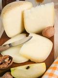 Pecorino Cheese, Tuscan Gastronomy, Tuscany, Italy, Europe Lámina fotográfica