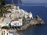 View of Amalfi From the Coast, Amalfi Coast, Campania, Italy, Europe Photographic Print