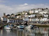 Brixham Harbour, South Devon, England, Uk Fotografisk tryk af Roy Rainford