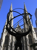 Statue of Atlas, Rockefeller Center, St. Patrick's Cathedral, Manhattan, New York City Photographic Print