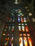 Stained Glass in Sagrada Familia, Barcelona, Catalonia, Spain, Europe Photographic Print