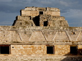 The Nunnery Quadrangle With the Pyramid of the Magician in the Background, Uxmal, Yucatan, Mexico Photographic Print by Balan Madhavan