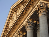 Pediment and Corinthian Columns of the Pantheon, Paris, France, Europe Photographic Print