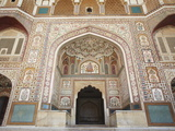 Ganesh Pol (Ganesh Gate) in Amber Fort, Jaipur, Rajasthan, India, Asia Photographic Print