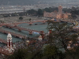 Evening Light at the Kumbh Mela in Haridwar, Uttarakhand, India, Asia Photographic Print