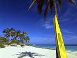 Yellow Canoe at the White Sand Beach of Playa Del Este, Cuba, West Indies, Caribbean Photographic Print