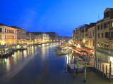 Grand Canal at Dusk, Venice, UNESCO World Heritage Site, Veneto, Italy, Europe Photographic Print by Amanda Hall