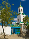 Colourful Mosque in a Little Village in the Republic of Djibouti, Africa Fotografisk tryk