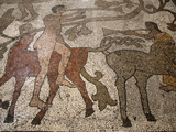 Mosaic of Riders on the Floor of the Central Nave, Otranto Duomo, Otranto, Lecce, Apulia, Italy Photographic Print