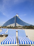 Jumeirah Beach Hotel, Jumeirah Beach, Dubai, United Arab Emirates, Middle East Photographic Print by Amanda Hall
