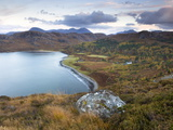 View Over Gruinard Bay at Dusk, Near Mellon Udrigle, Wester Ross, Highlands, Scotland, Uk Photographic Print by Lee Frost