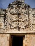 Close-Up View of the Nunnery Quadrangle, Uxmal, UNESCO World Heritage Site, Yucatan, Mexico Photographic Print by Balan Madhavan