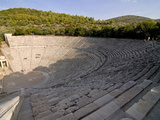The Ancient Amphitheatre of Epidaurus, UNESCO World Heritage Site, Peloponnese, Greece, Europe Photographic Print