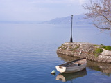 Little Boat on Lake Ohrid, UNESCO World Heritage Site, Macedonia, Europe Photographic Print