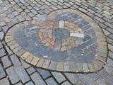 Heart of Midlothian, Royal Mile, Old Town, Edinburgh, Lothian, Scotland, Uk Photographic Print by Amanda Hall
