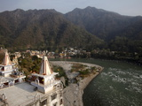 Lakshman Temple Overlooking the Ganges in Rishikesh, Uttarakhand, India, Asia Photographic Print