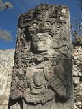 West Court, Stela P, Copan Archaeological Park, Copan, UNESCO World Heritage Site, Honduras Photographic Print