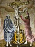 Mosaic of the Crucifixion in Saint-Antoine De Padoue Church, Paris, France, Europe Photographic Print