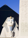 Sphinx and Obelisk Outside the Luxor Casino, Las Vegas, Nevada, USA Photographic Print by Richard Cummins