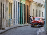 Colourful Street With Traditional Old American Car Parked, Old Havana, Cuba, West Indies, Caribbean Photographic Print by Martin Child