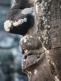 Detail of Stone Face on Towers in the Bayon Temple, Angkor Thom, Cambodia Photographic Print
