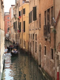 Gondola on a Canal, Venice, UNESCO World Heritage Site, Veneto, Italy, Europe Photographic Print by Amanda Hall