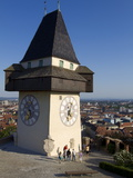 Schlossberg, Clock Tower, Old Town, UNESCO World Heritage Site, Graz, Styria, Austria, Europe Photographic Print by Dallas & John Heaton