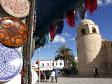 Handicraft Shop Outside the Great Mosque, Place De La Grande Mosque, Medina, Sousse, Tunisia Photographic Print by Dallas & John Heaton