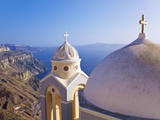 Greek Orthodox Church in Fira, Santorini (Thira), Cyclades Islands, Aegean Sea, Greece Photographic Print by Gavin Hellier