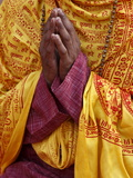 Hindu Prayer in Parmath, Rishikesh, Uttarakhand, India, Asia Photographic Print